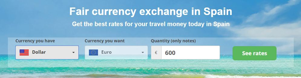 Buy euros with foreign currency