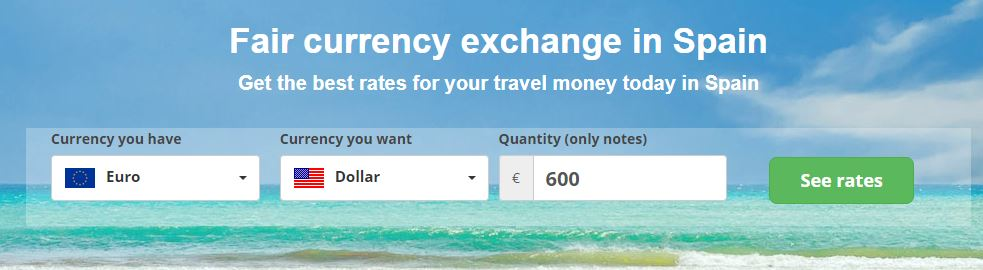 Buy foreign currency in Spain