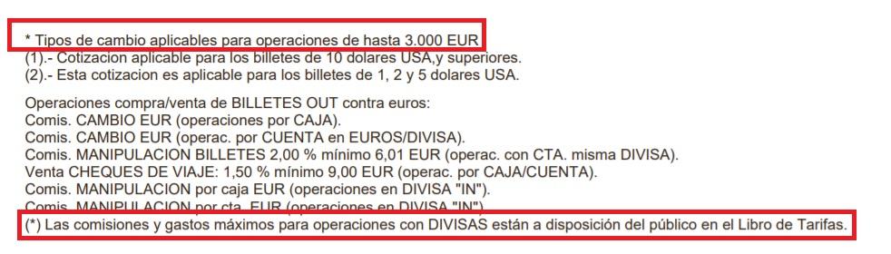 Cambio divisas Bankia condiciones