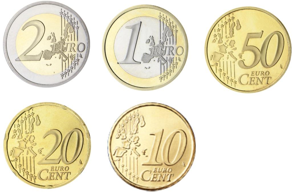 Caras comunes de moneda Euro