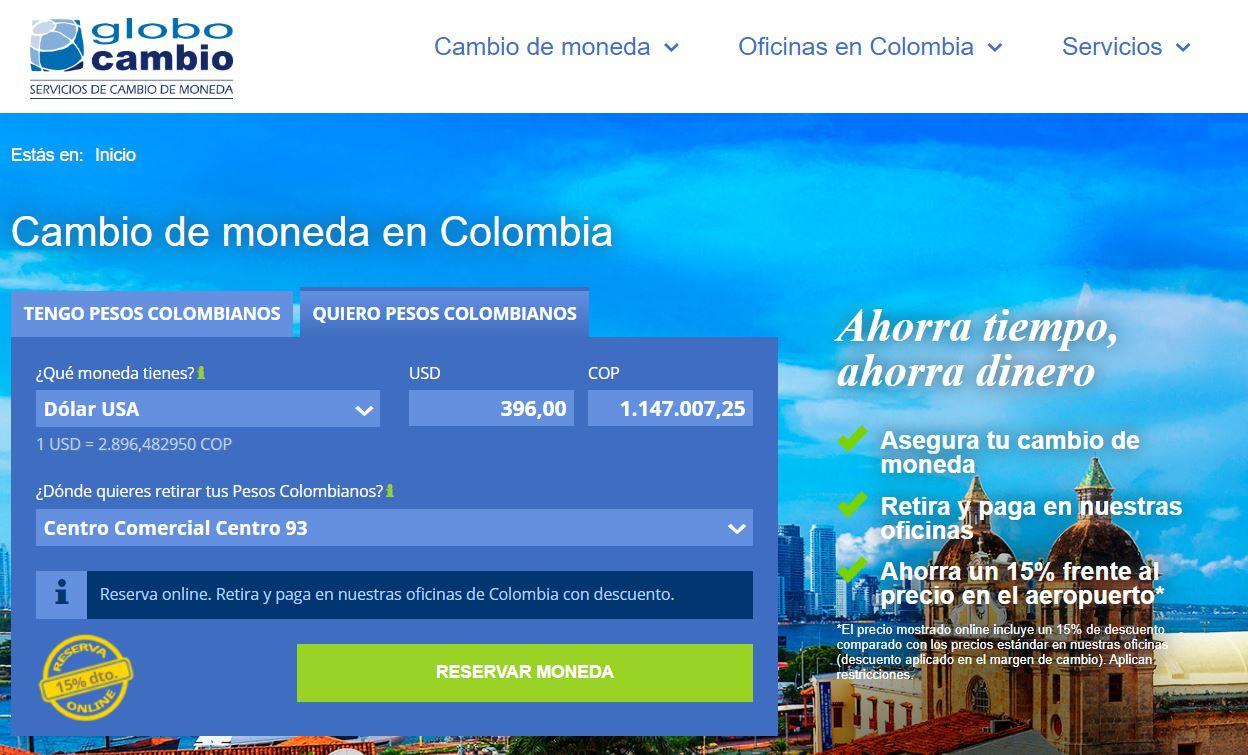 Casas de cambio en Colombia