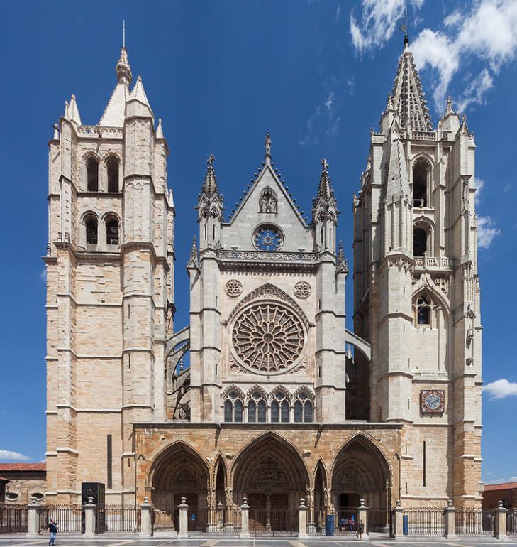 Catedral de León vista frontal