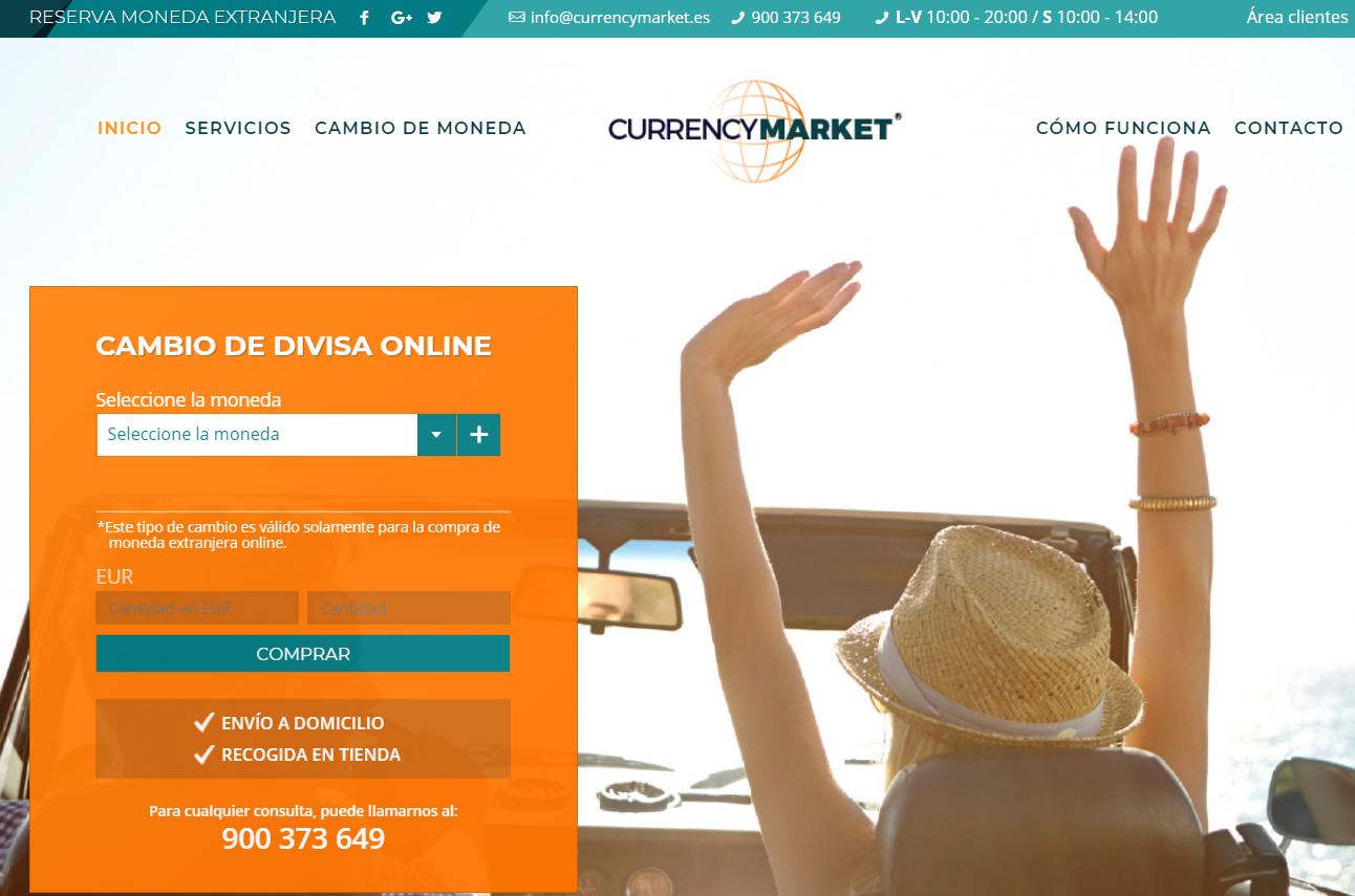 Currency Market pagina web