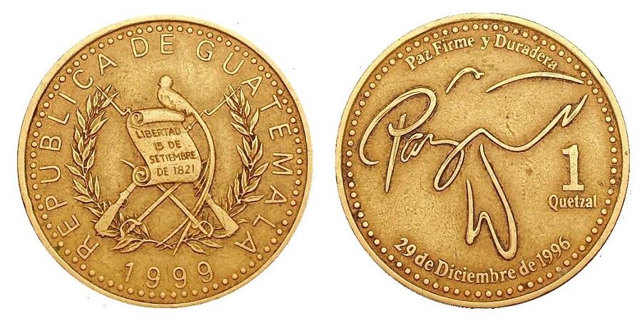 Moneda de 1 Quetzal Guatemala