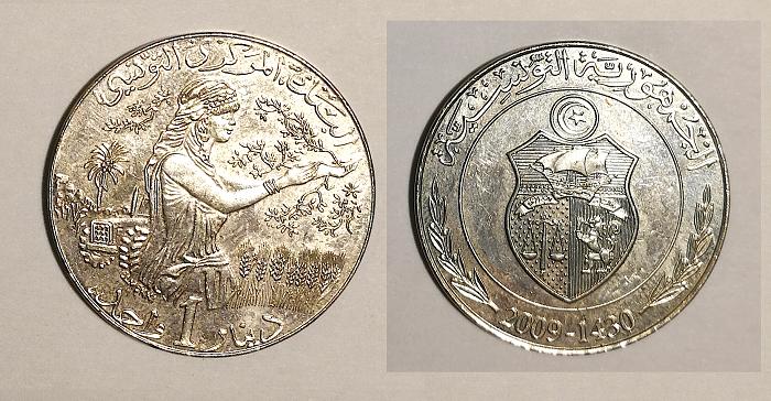 Moneda de 1 dinar