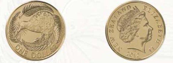 Moneda de 1 dollar de Nueva Zelanda