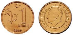 Moneda de 1 kurus Turquía
