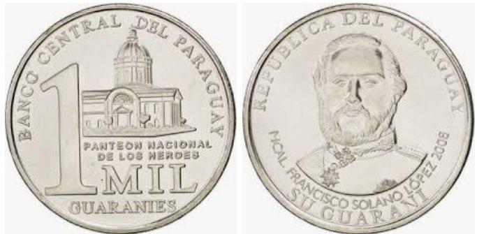 Moneda de 1.000 guaraníes de Paraguay