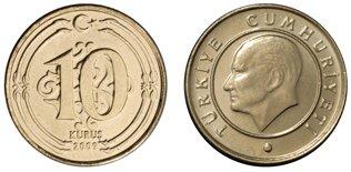 Moneda de 10 kurus Turquía
