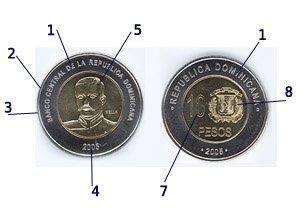 Moneda de 10 pesos dominicanos DOP