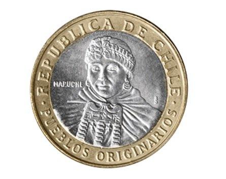 Moneda de 100 pesos chilenos