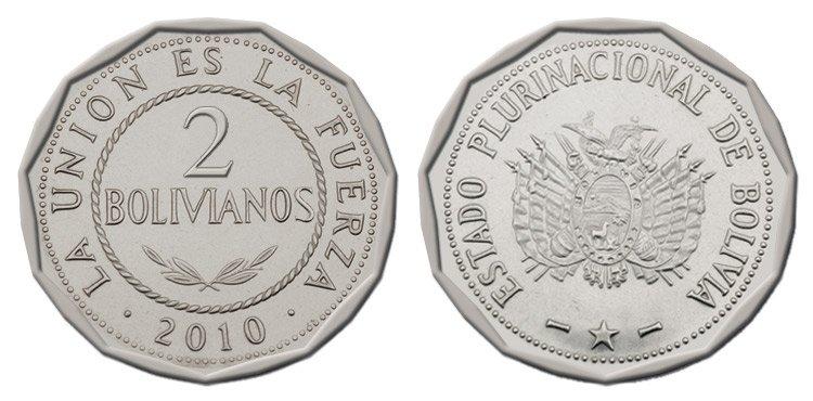 Moneda de 2 bolivianos