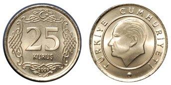 Moneda de 25 kurus Turquía