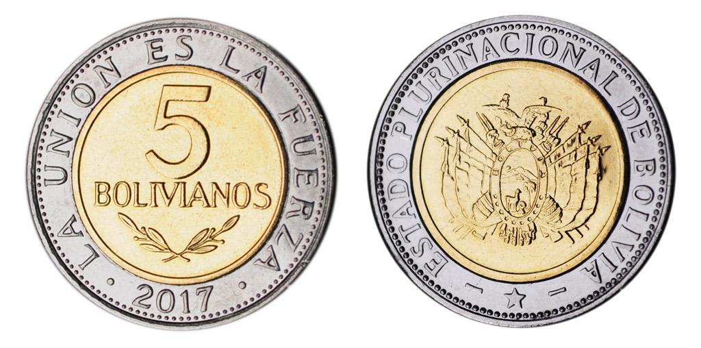 Moneda de 5 bolivianos