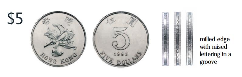 Moneda de 5 dólares de Hong Kong