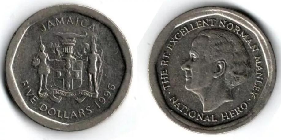 Moneda de 5 dólares de Jamaica