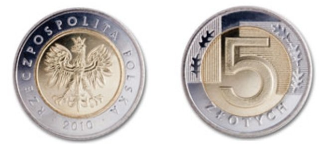Moneda de 5 zloty polaco