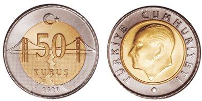 Moneda de 50 kurus Turquía