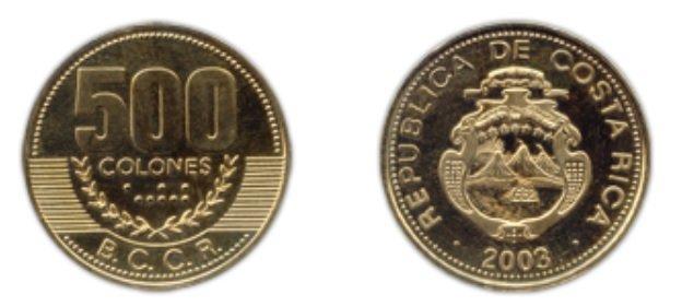 Moneda de 500 CRC
