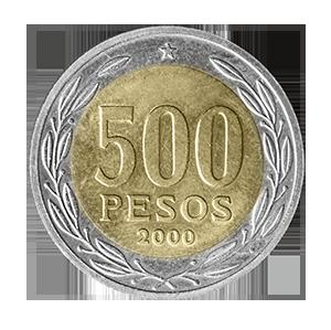 Moneda de 500 pesos chilenos