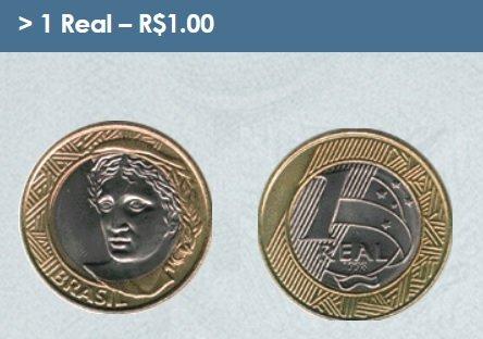 Moneda de un real brasileño