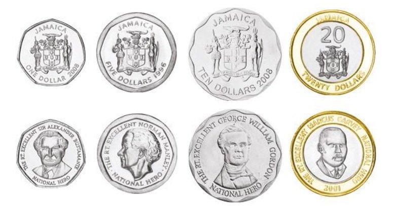Monedas de Jamaica JMD