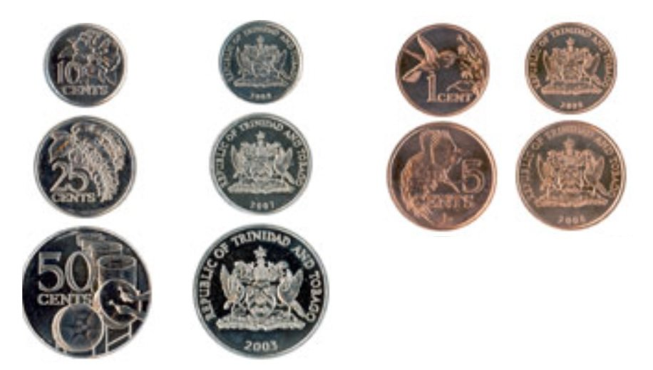 Monedas de Trinidad y Tobago 23 05 2019