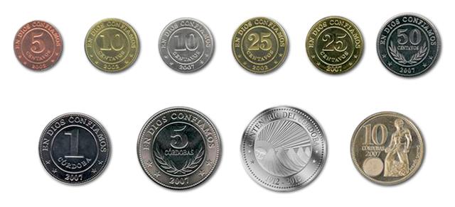 Monedas de córdoba nicaragüense 2019