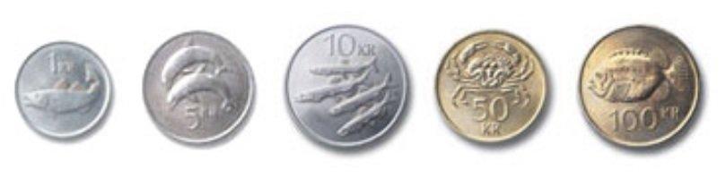 Monedas de corona islandesa en circulación 2019