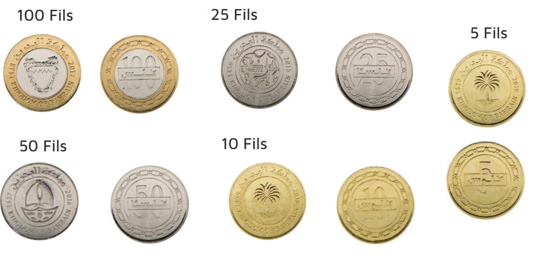 Monedas de dinar de Bahrein 2019