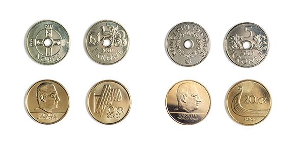 Monedas de la corona Noruega NOK 2019