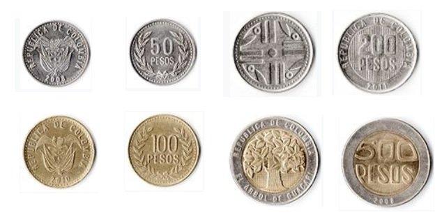 Monedas de peso colombiano 2019