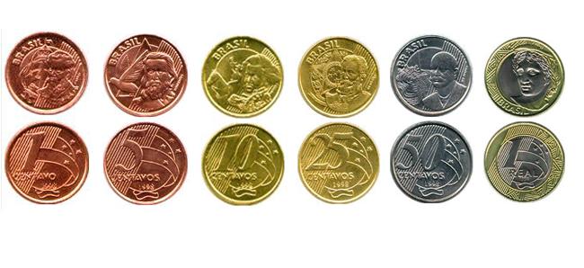 Monedas real brasileño 2019