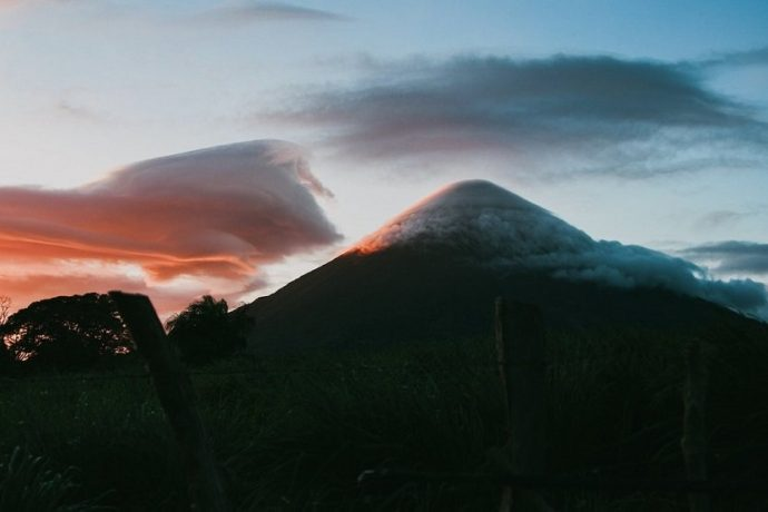 Isla Ometepe en el gran lago Nicaragua