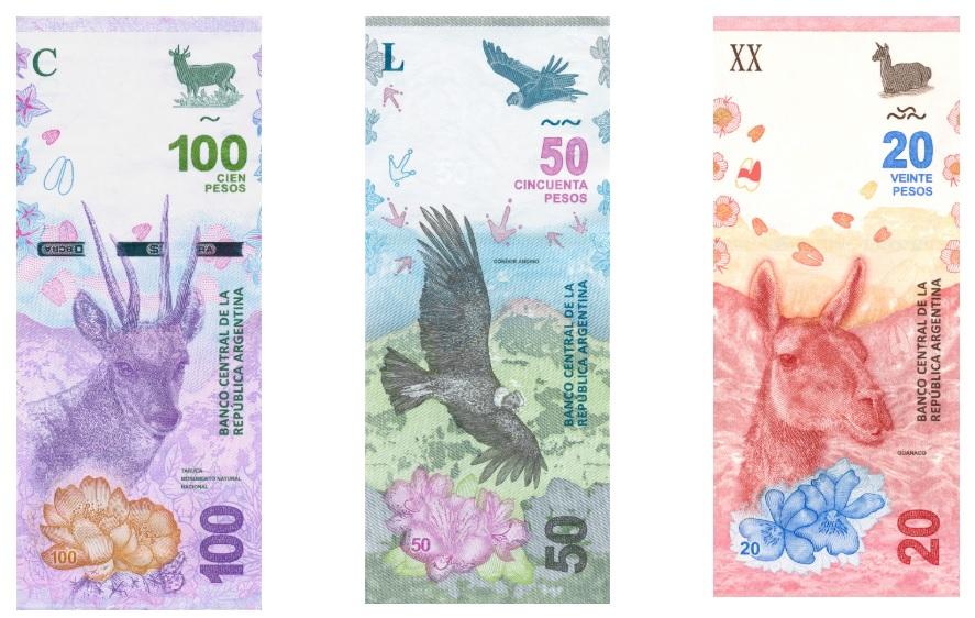 Nueva Familia de Billetes Animales Autóctonos de Argentina 06 2016
