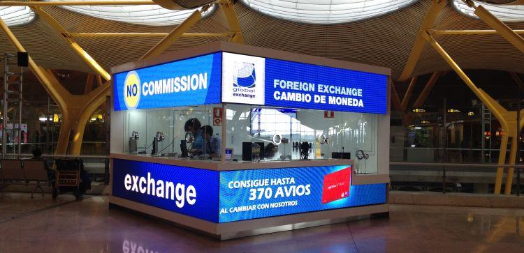Oficinas de Global Exchange T4 mostradores de Iberia