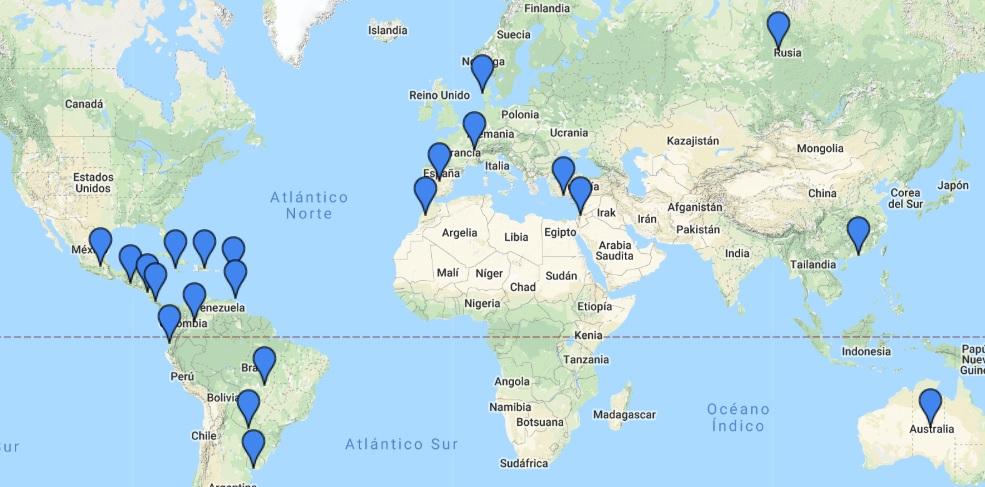 Oficinas de cambio Global Exchange en el mundo