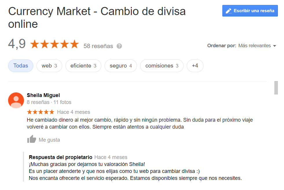 Opiniones Currency Market