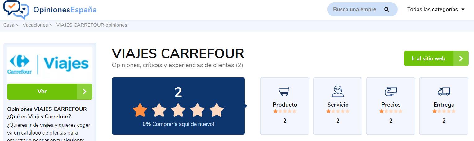 Opiniones Viajes Carrefour