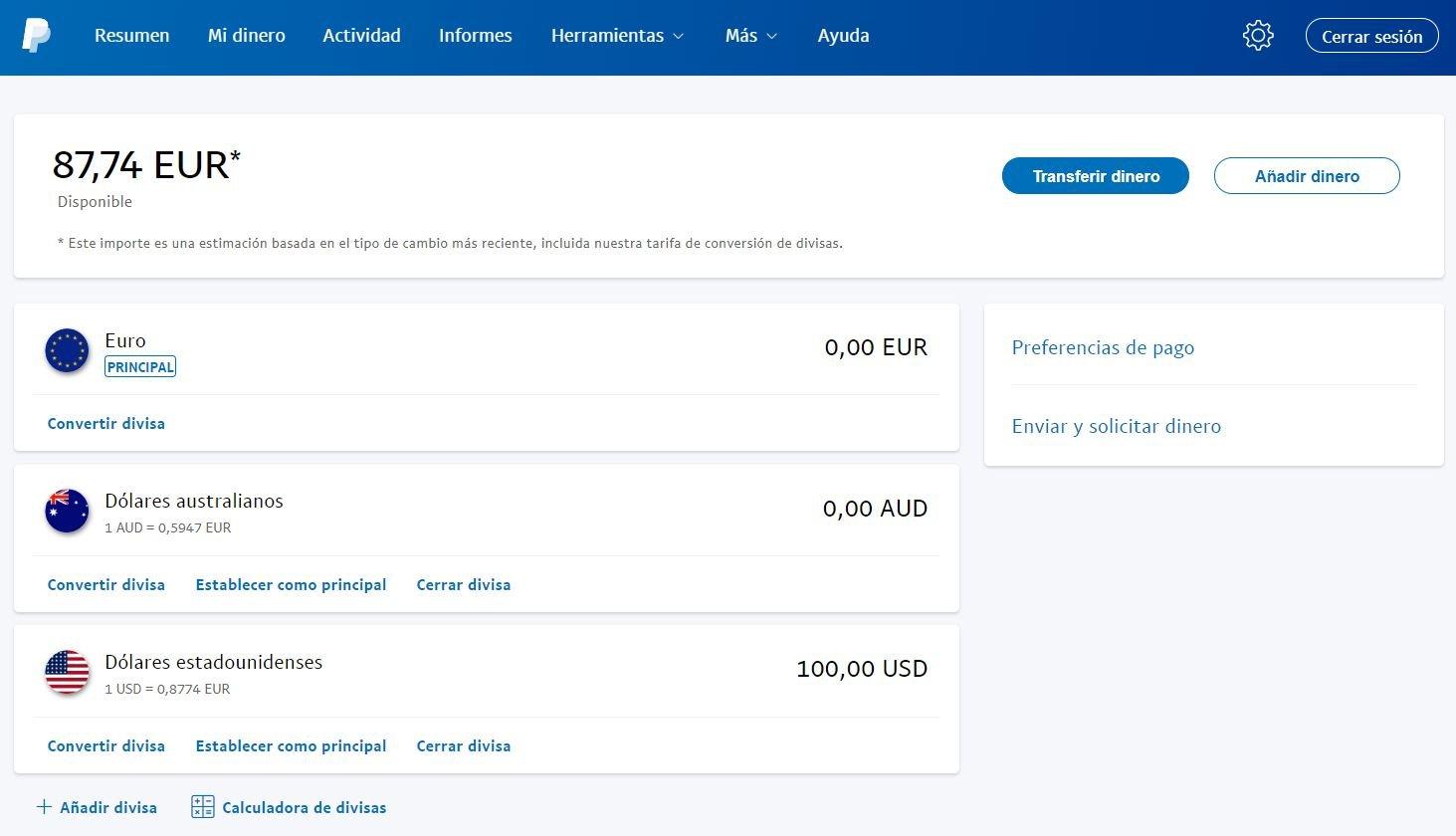 PayPal Mi Dinero