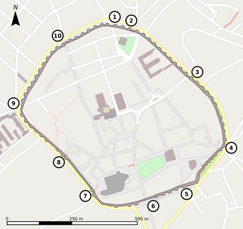 Plano de la muralla romana de Lugo Wikipedia