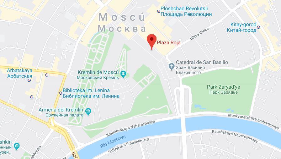 Plaza Roja Moscú mapa