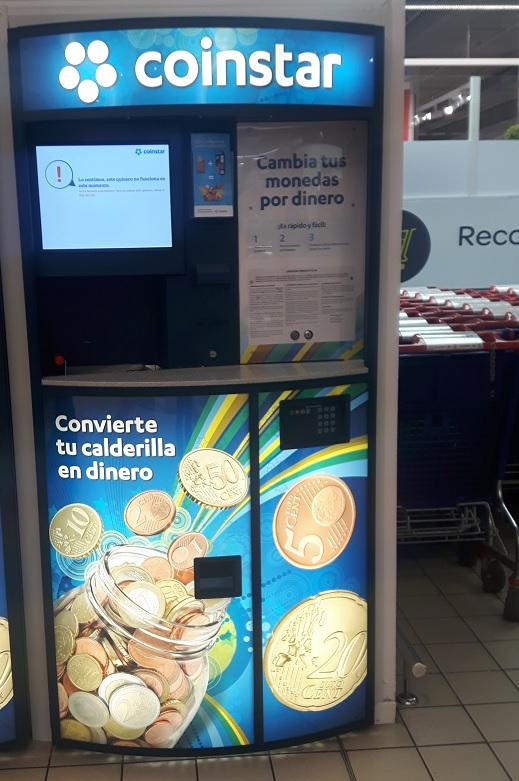 Quiosco Coinstar en Carrefour