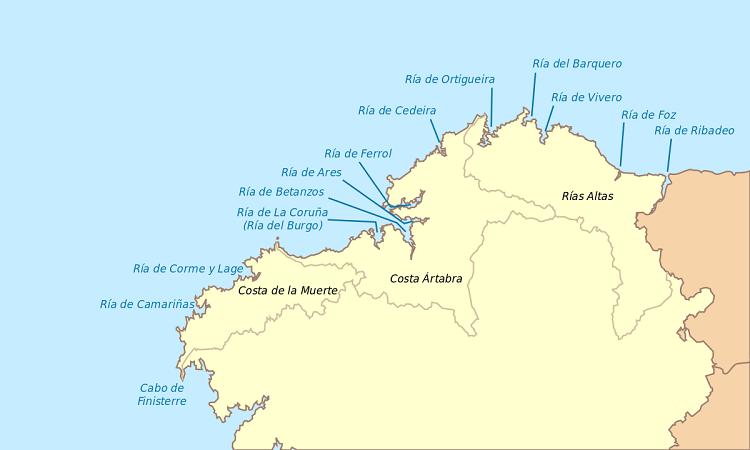 Rías Altas Galicia (fuente Wikipedia)