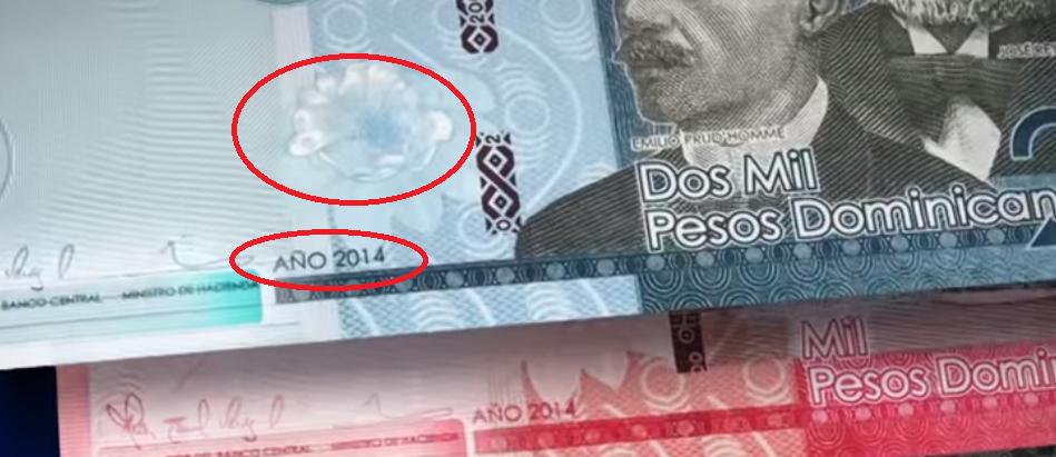 Rosa de Bayahíbe billete República Dominicana
