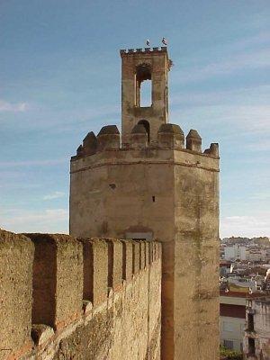 Torre de Espantaperros en la alcazaba de Badajoz