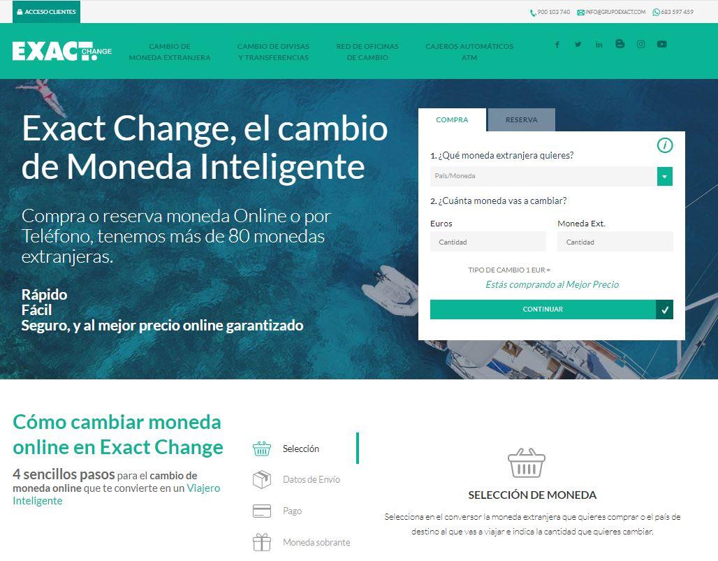 Web de Exact Change
