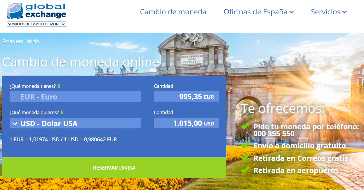 Web de Global Exchange