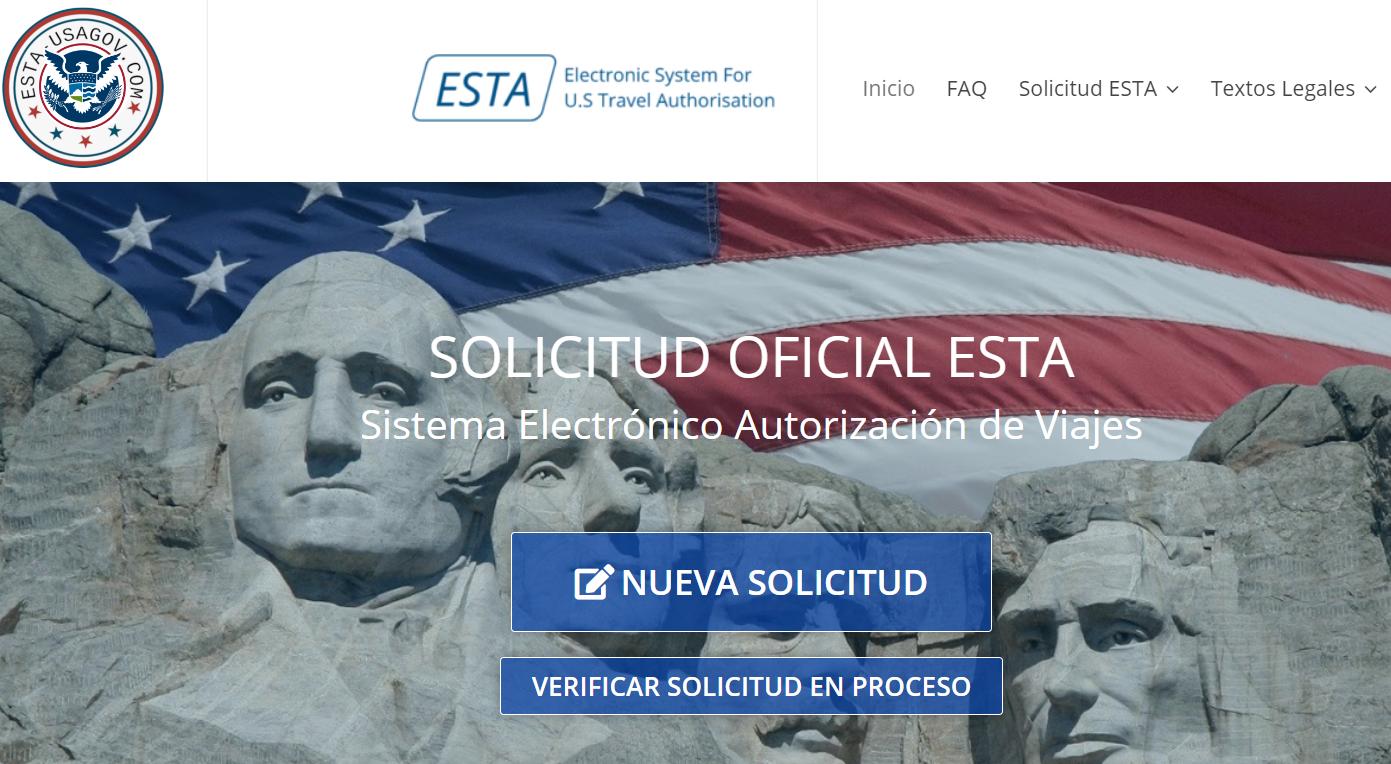 Web timo ESTA USA