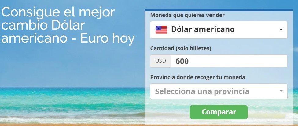 Widget venta moneda extranjera